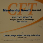 Membership Growth 2012