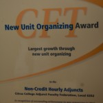 New Unit Organizing Award 2014